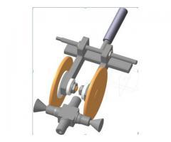 Двухинструментальная державка для электромеханической обработки крестовин