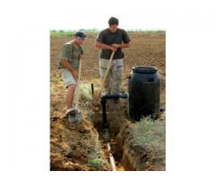 Система внутрипочвенного орошения для полива овощных культур