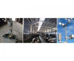 Система контроля параметров микроклимата в животноводческом помещении,